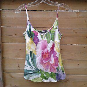 Floral watercolour silk camisole